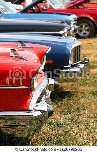 Muscle Cars In A Row - csp0790265