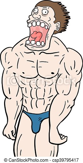 creative design of muscle gym man vector clip art search rh canstockphoto com  muscle man clipart free