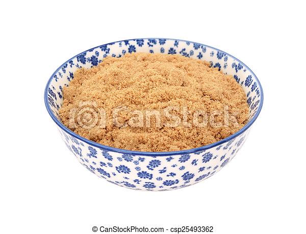 Muscovado Sugar In A China Bowl   Csp25493362