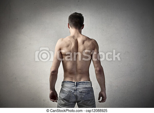 muscular back man s muscular back