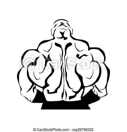 Muscular Bodybuilders Back Muscular Bodybuilder