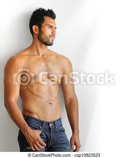 muscular, homem - csp10823523