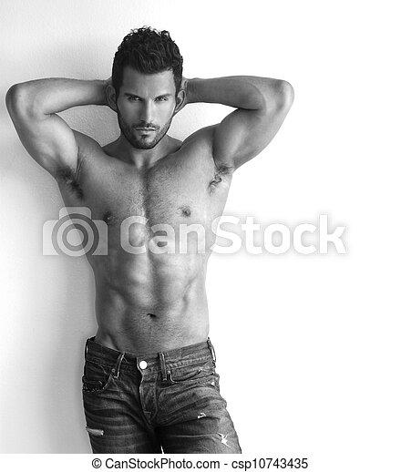 Muscular hunk - csp10743435