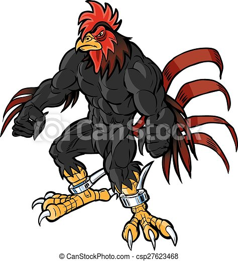 muscular rooster mascot scowling vector cartoon clip art clip rh canstockphoto com carolina gamecock clipart free sc gamecock clipart