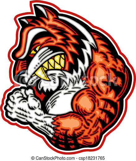 muscular tiger mascot rh canstockphoto ca tiger school mascot clipart clemson tiger mascot clipart