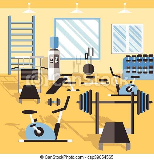 musculation affiche gymnase salle entra nement affiche gymnase fitness illustration. Black Bedroom Furniture Sets. Home Design Ideas