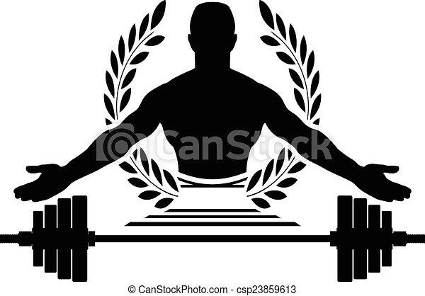 Musculation gloire vecteur gloire illustration - Musculation dessin ...