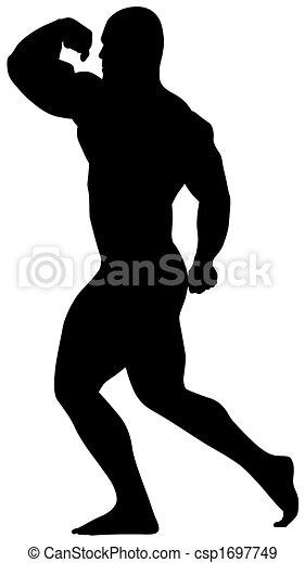 Musculation sport ic ne culturiste sport silhouette - Musculation dessin ...