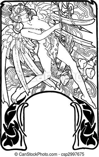 Muse cupid vector illustration. valentines day. Cupid illustration ...