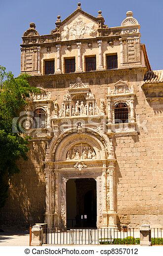 Museo De Santa Cruz.Museo De Santa Cruz At Sunny Day At Toledo Madrid Spain
