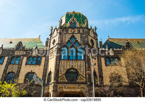 Museum Of Applied Art Budapest Facade Of The Famous Museum Of Applied Arts In Budapest Hungary