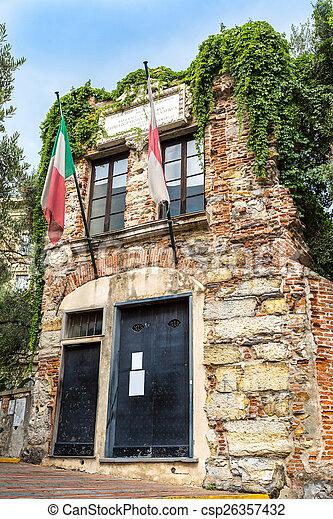 Museum of Columbus Christopher  in Genoa - csp26357432