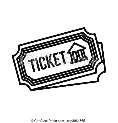 Museum Ticket Icon Outline Style Museum Ticket Icon In Outline