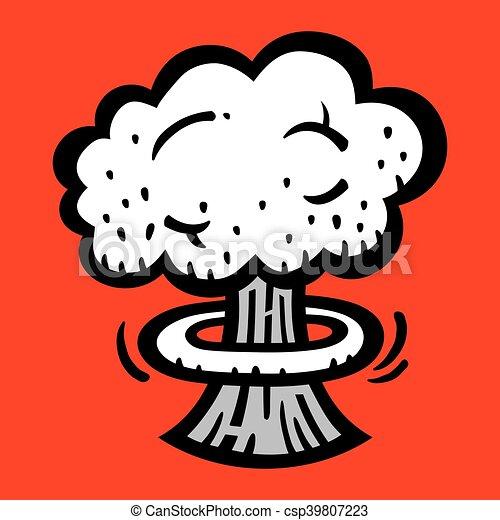 Mushroom Cloud Atomic Nuclear Bomb - csp39807223
