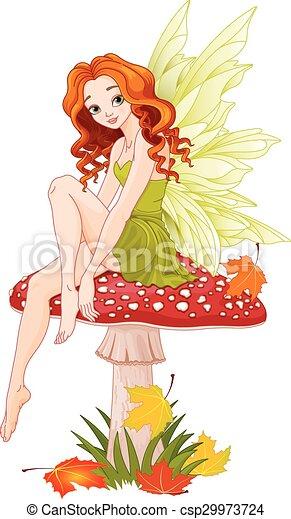 Mushroom Fairy - csp29973724