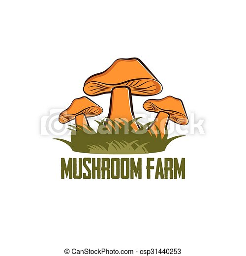 mushroom farm vector design template