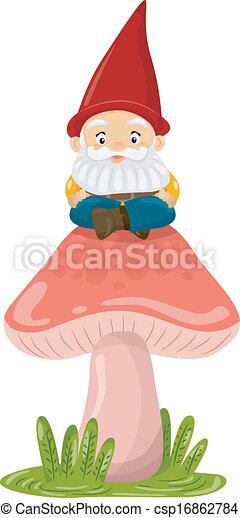 Mushroom Gnome - csp16862784