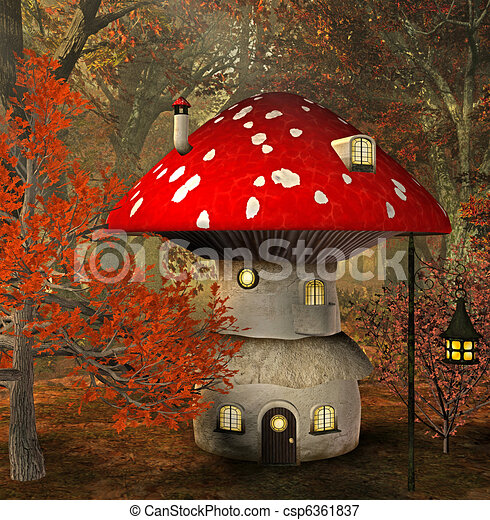 Mushroom House Stock Illustrations. 20 New Images Added For April 2018.  1,326 Mushroom House Clip Art Images And Royalty Free Illustrations  Available To ...