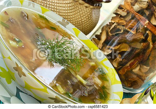 mushroom soup - csp6581423