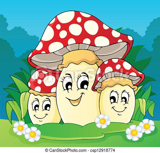 Mushroom theme image 2 - csp12918774