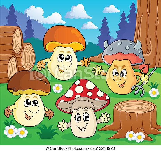 Mushroom theme image 3 - csp13244920
