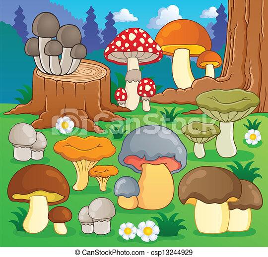 Mushroom theme image 4 - csp13244929