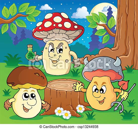 Mushroom theme image 6 - csp13244938