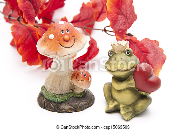 Mushroom with frog - csp15063503