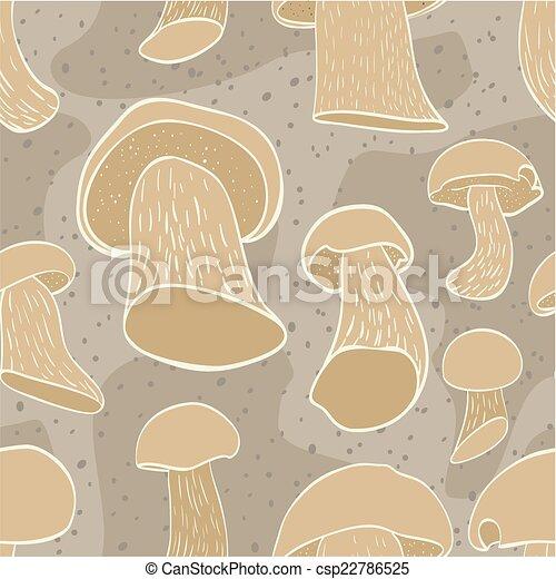 Mushrooms pattern - csp22786525