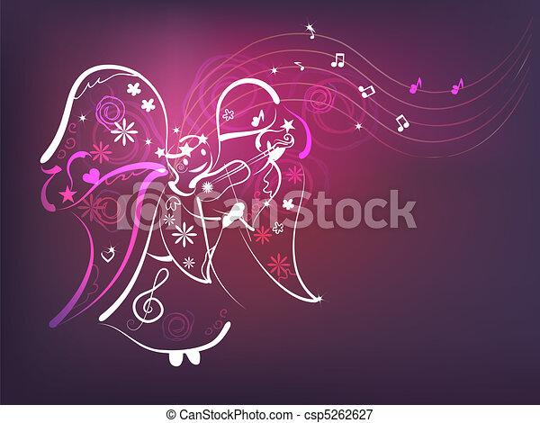 Music angel - csp5262627
