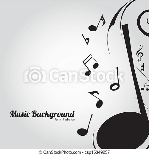 Music Background Different Music Notes On White Background Clipart