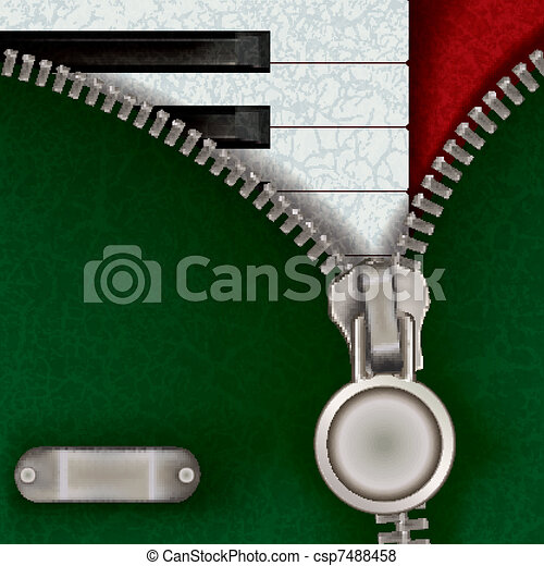 music background with piano - csp7488458