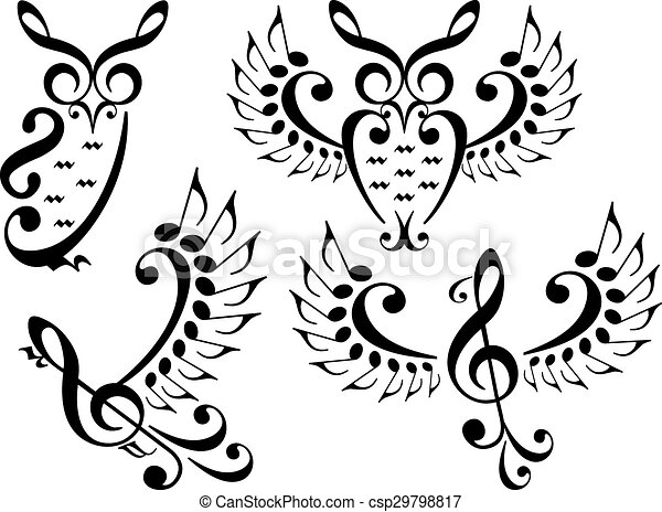 music bird and owl  vector set music owl and flying bird birds flying clipart free birds flying clipart free