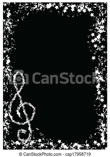 Vector Border Musical Notes Unlimited Clipart Design