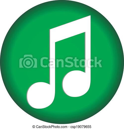Music button - csp19079655
