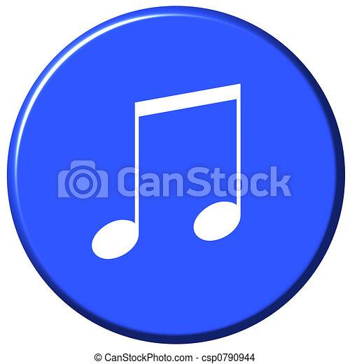 Music Button - csp0790944