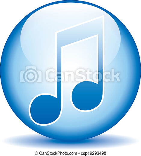 Music button - csp19293498