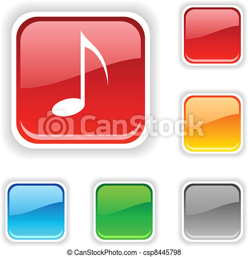 Music button. - csp8445798