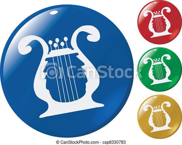 music button - csp6330783