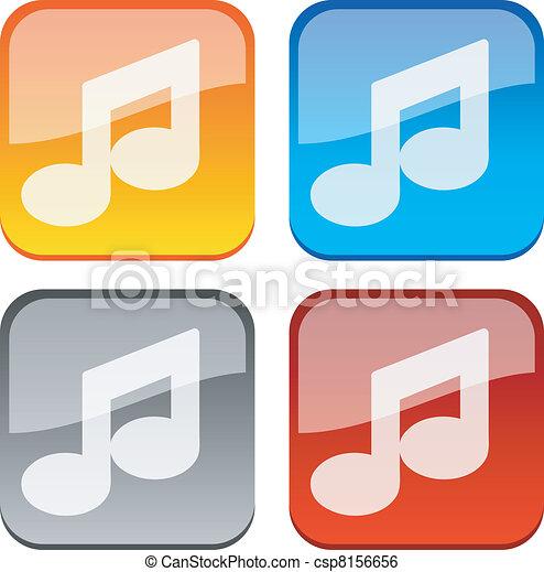 Music buttons. - csp8156656