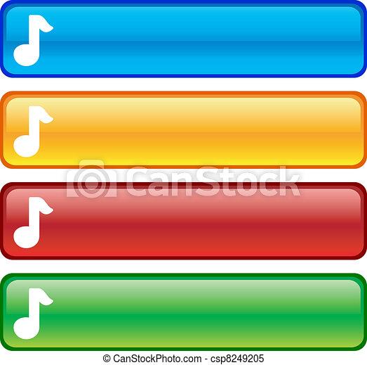 Music buttons. - csp8249205