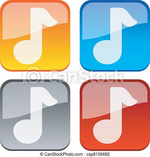 Music buttons. - csp8156682