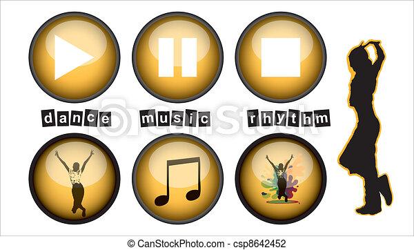 Music buttons - csp8642452