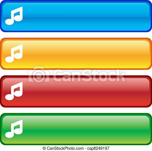 Music buttons. - csp8249197