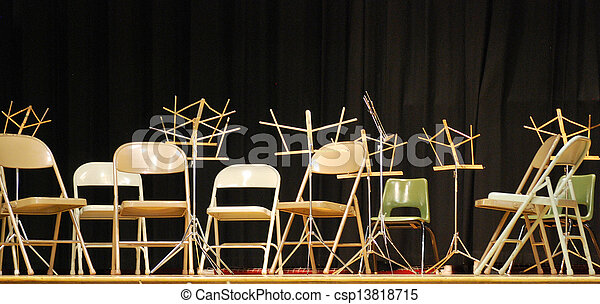 Music Chairs And Stands.   Csp13818715