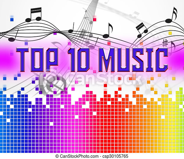 Music Charts Represents Hit Parade And Hits Chart Music  Stock