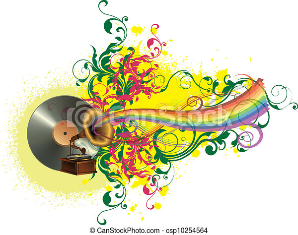Music colors and rainbow - csp10254564