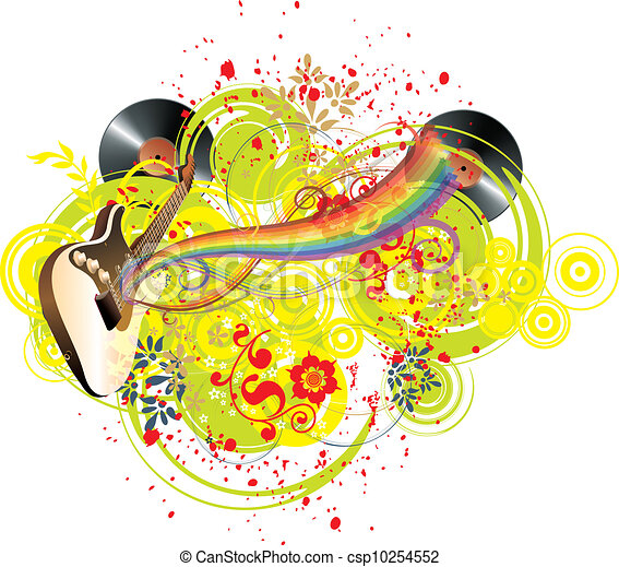Music colors and rainbow - csp10254552