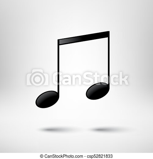 Music design element. Music note vector icon. - csp52821833