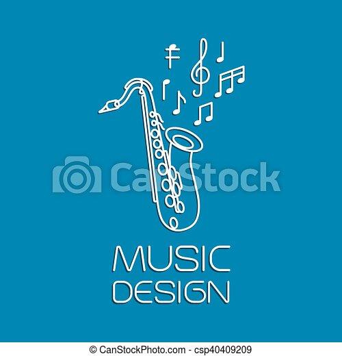 Music design with alto saxophone - csp40409209